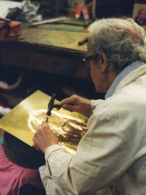 Laid Yebka dans son atelier